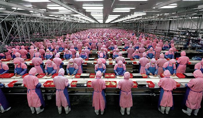 tillverkning har flyttat till fattigare länder